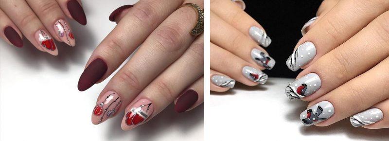 зимние рисунки на ногтях фото идеи