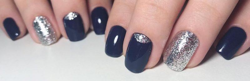 зимний маникюр на коротких ногтях гель лаком