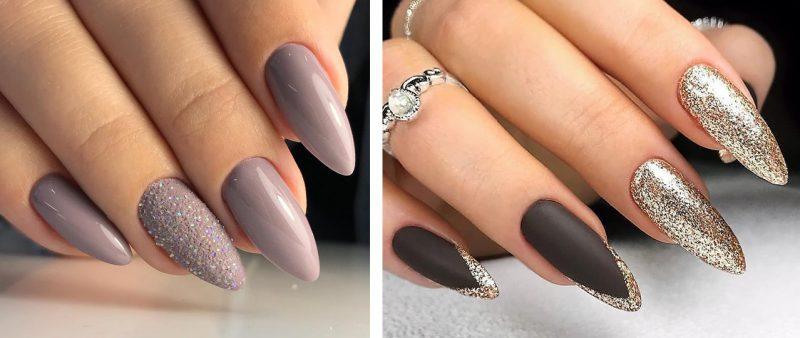 зимний дизайн маникюра на длинные ногти фото