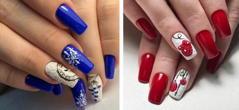 красивые зимние рисунки на ногтях идеи