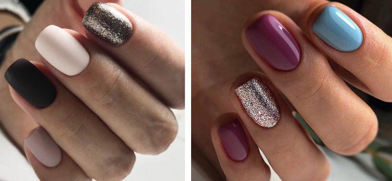 красивый зимний маникюр на короткие ногти дизайн