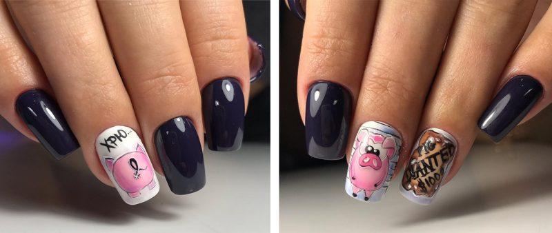 ногти зимние рисунки на ногтях новинки