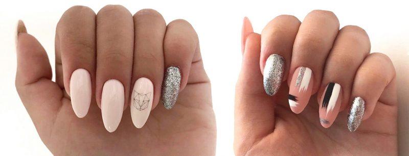 модный зимний маникюр на длинные ногти фото