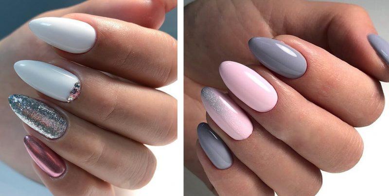 красивый зимний маникюр на длинные ногти дизайн