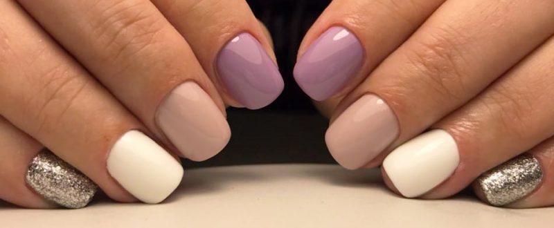 нежный зимний маникюр на короткие ногти фото ногтей