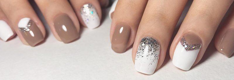 зимний маникюр на короткие ногти фото дизайн