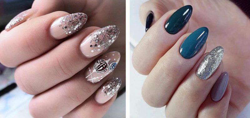 идеи зимнего маникюра на длинные ногти фото