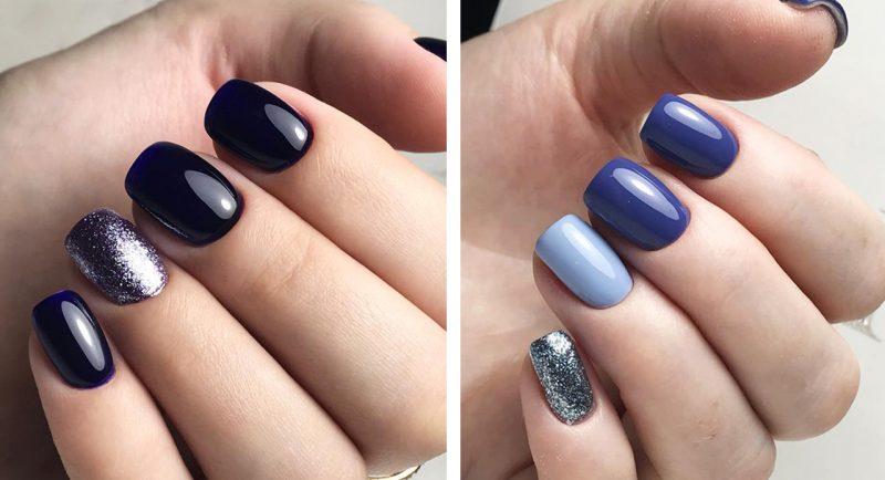 идеи зимнего маникюра на короткие ногти