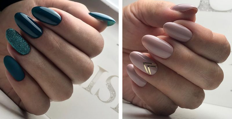 варианты зимнего маникюра на длинные ногти