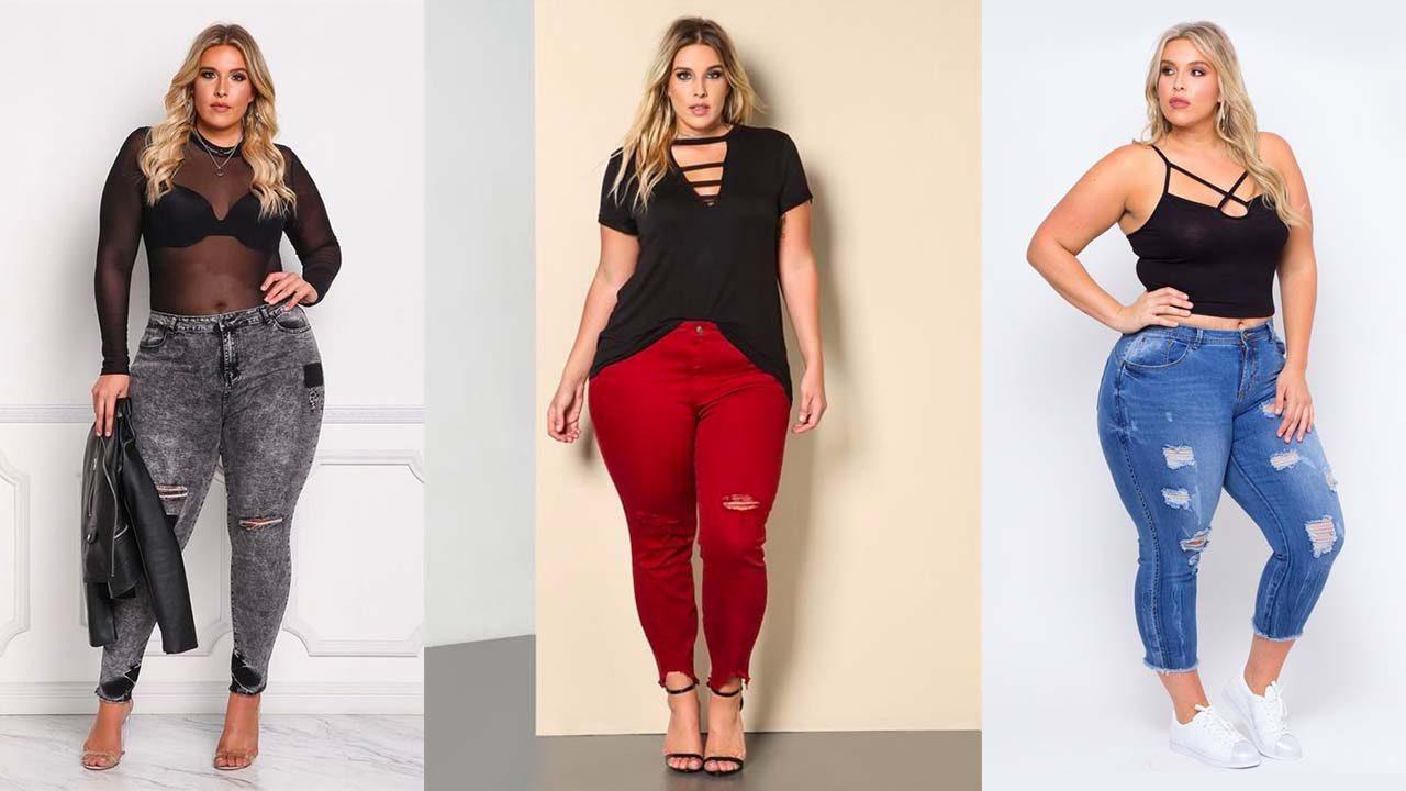Короткие джинсы для полных девушек (фото 2)