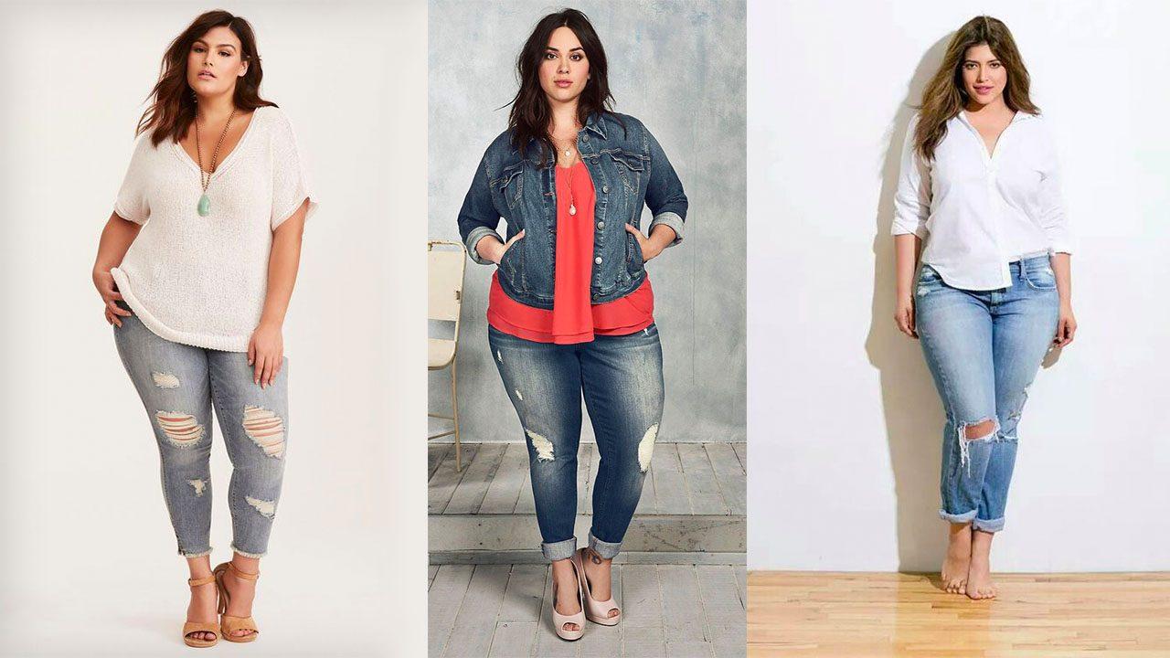 Короткие джинсы для полных девушек (фото 4)