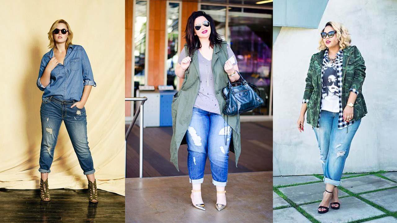 Короткие джинсы для полных девушек (фото 3)