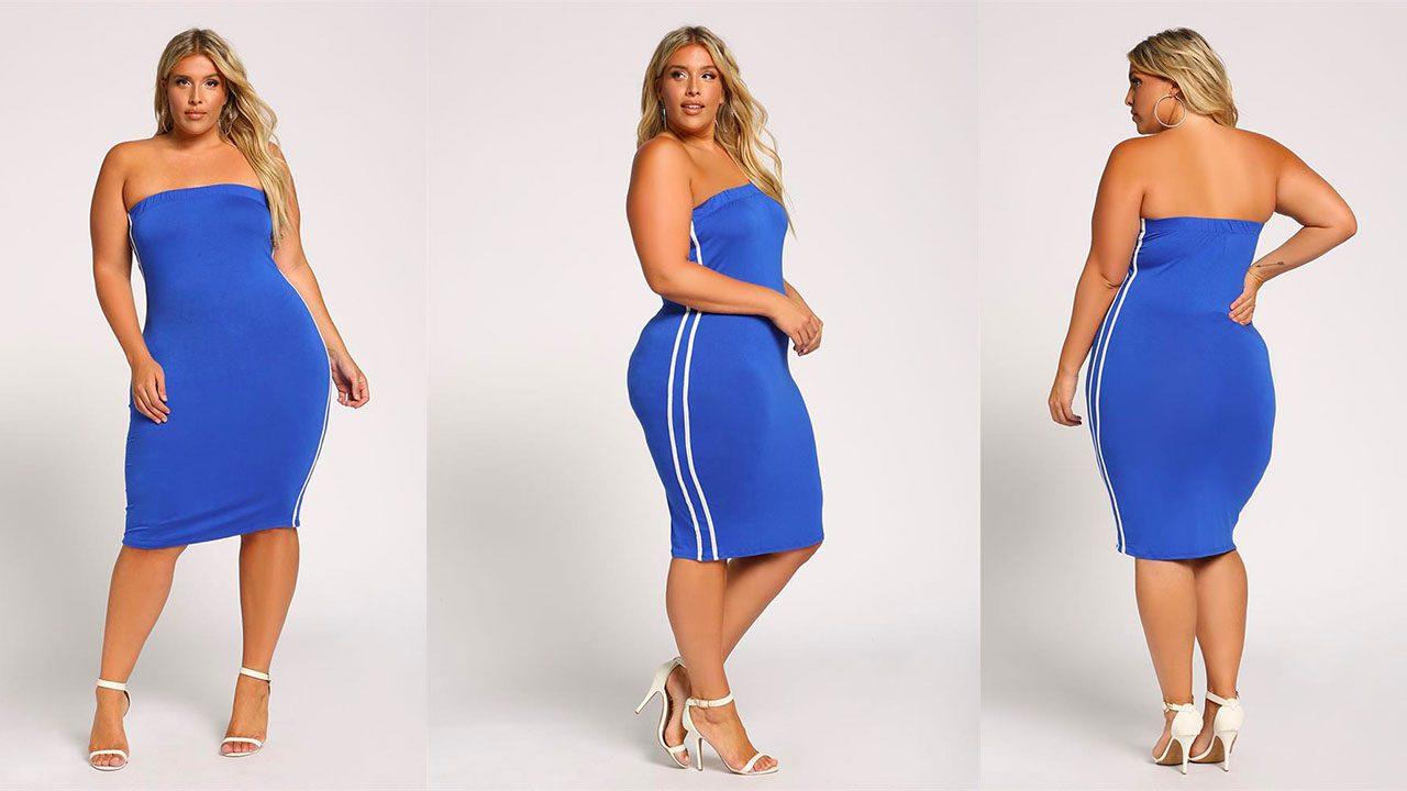 Платья для полных женщин (фото 8)
